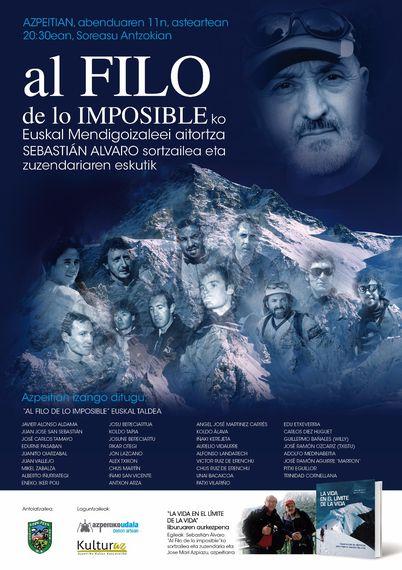 """""""Al filo de lo imposible"""" hitzaldia eta """"La vida en el límite de la vida"""" liburu-aurkezpena"""