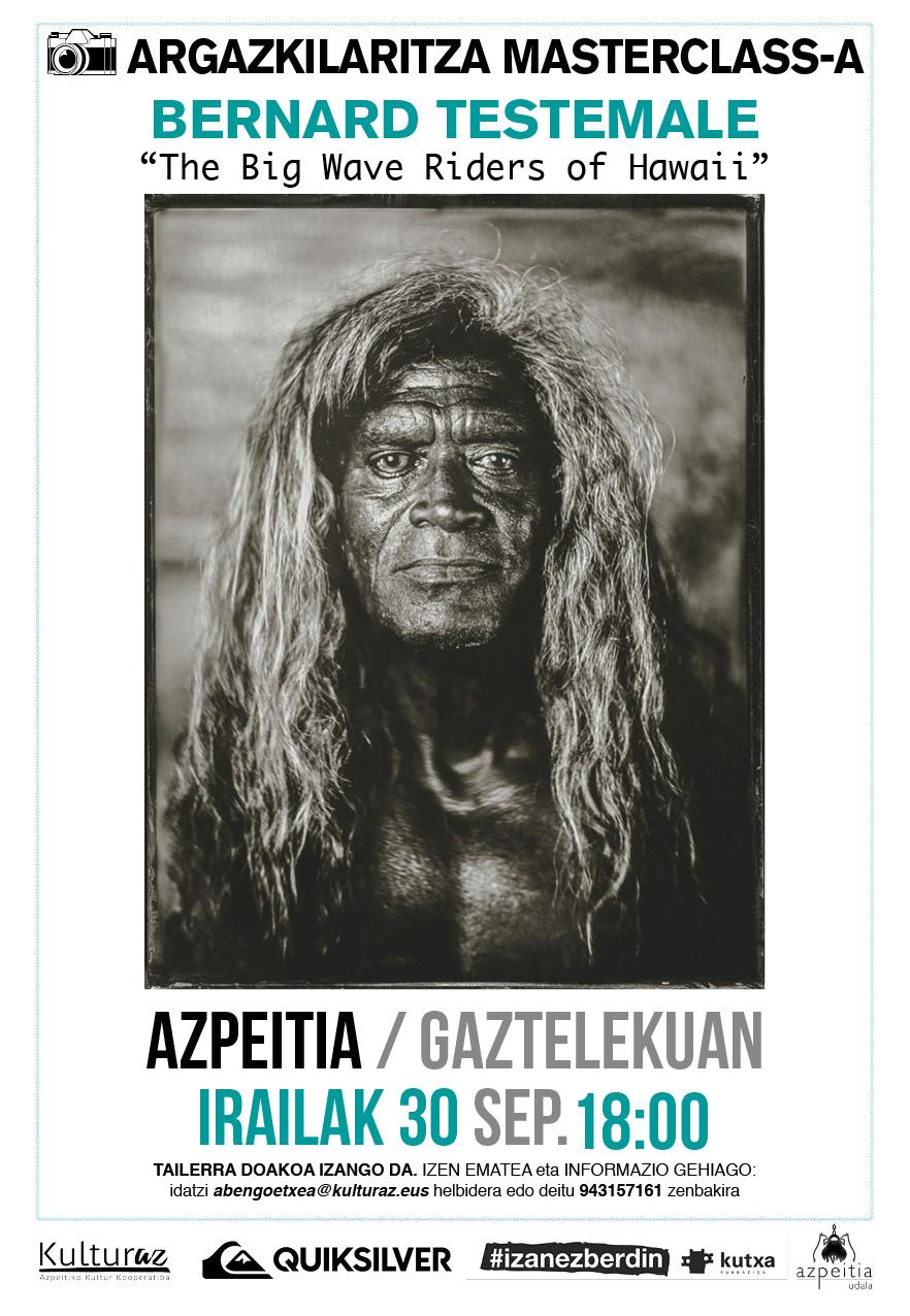 Argazkilaritza Masterclass-a: Bernard Testemale