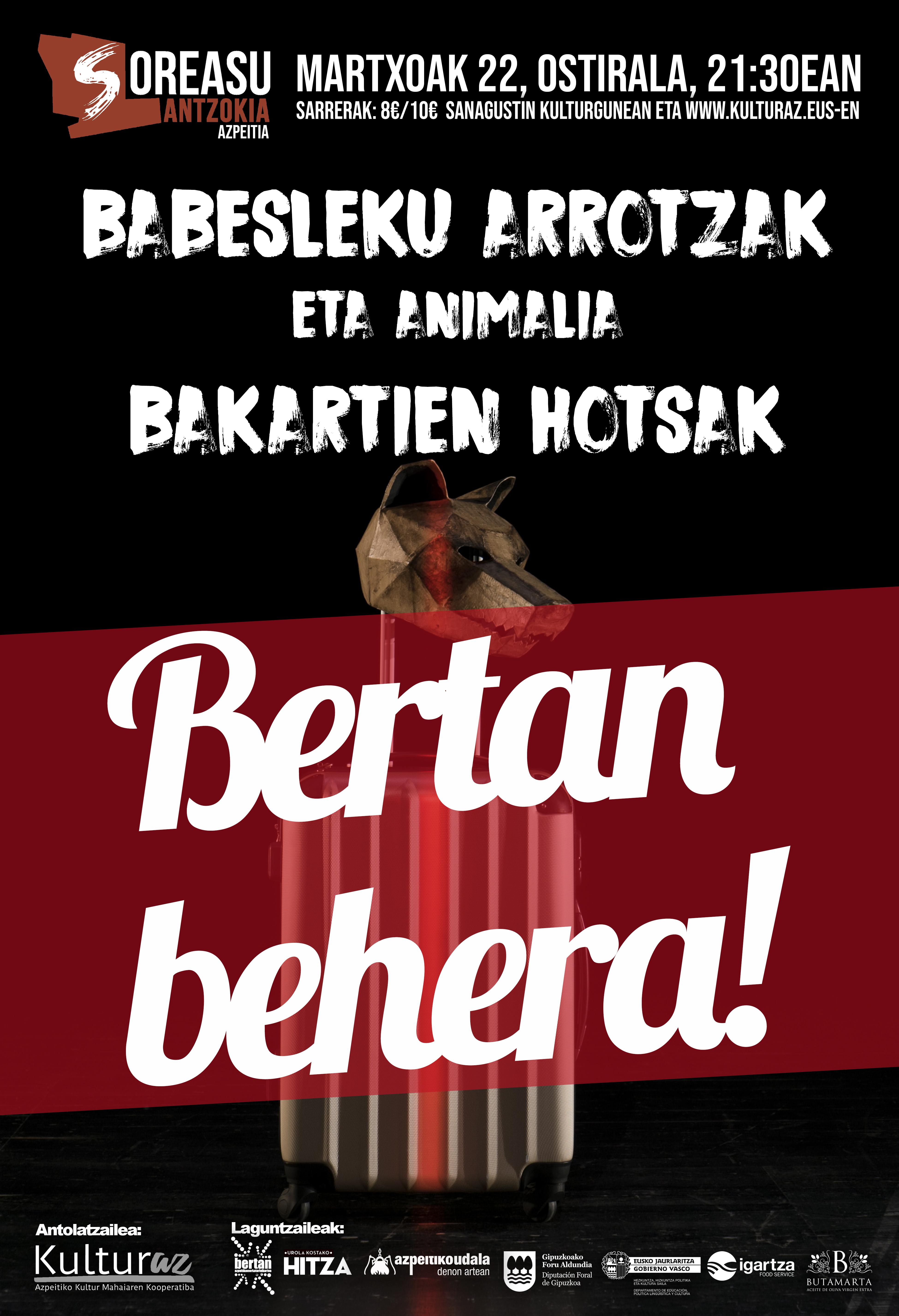 Babesleku Arrotzak eta Animalia Bakartien Hotsak (BERTAN BEHERA)