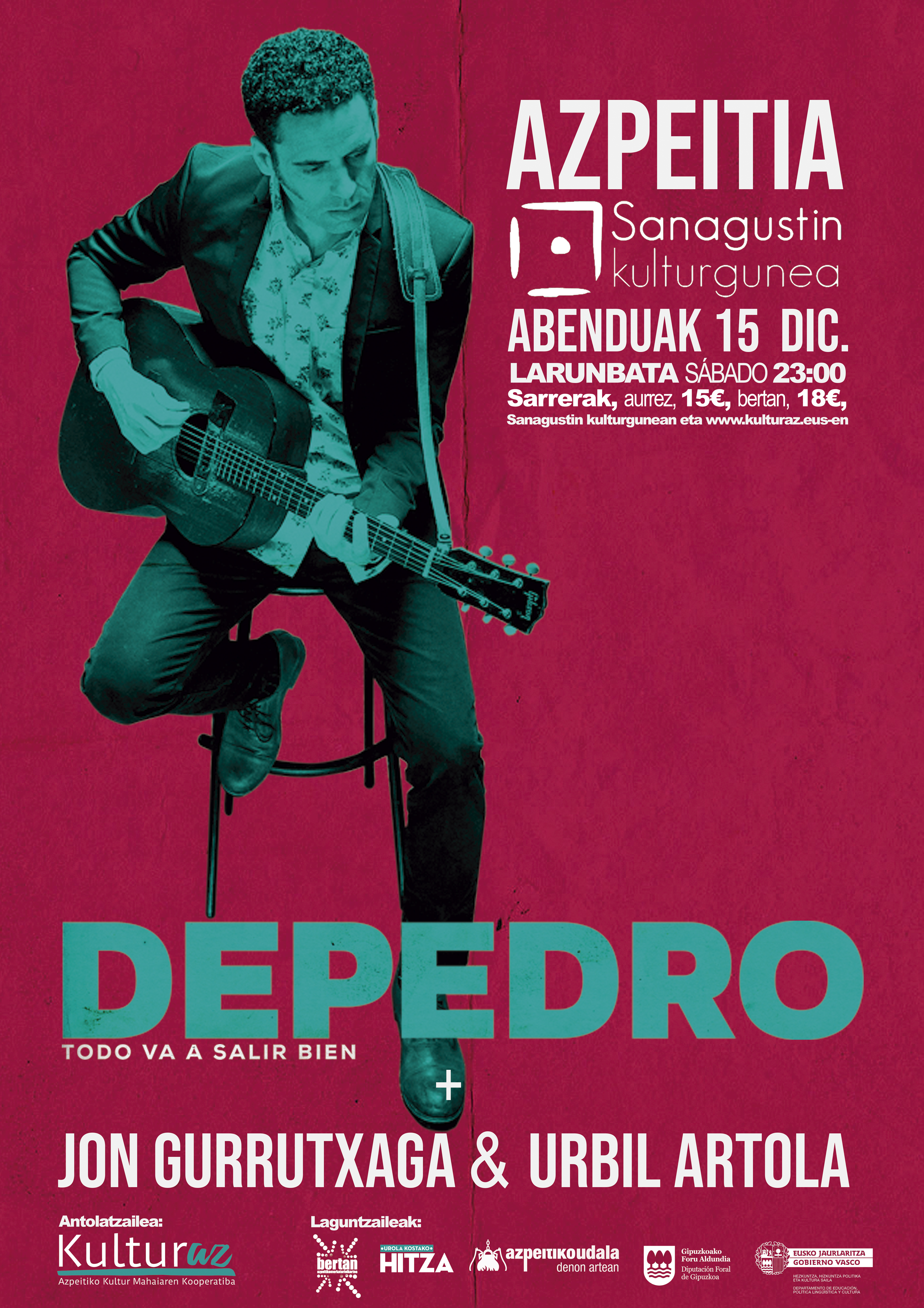 Depedro + Jon Gurrutxaga & Urbil Artola
