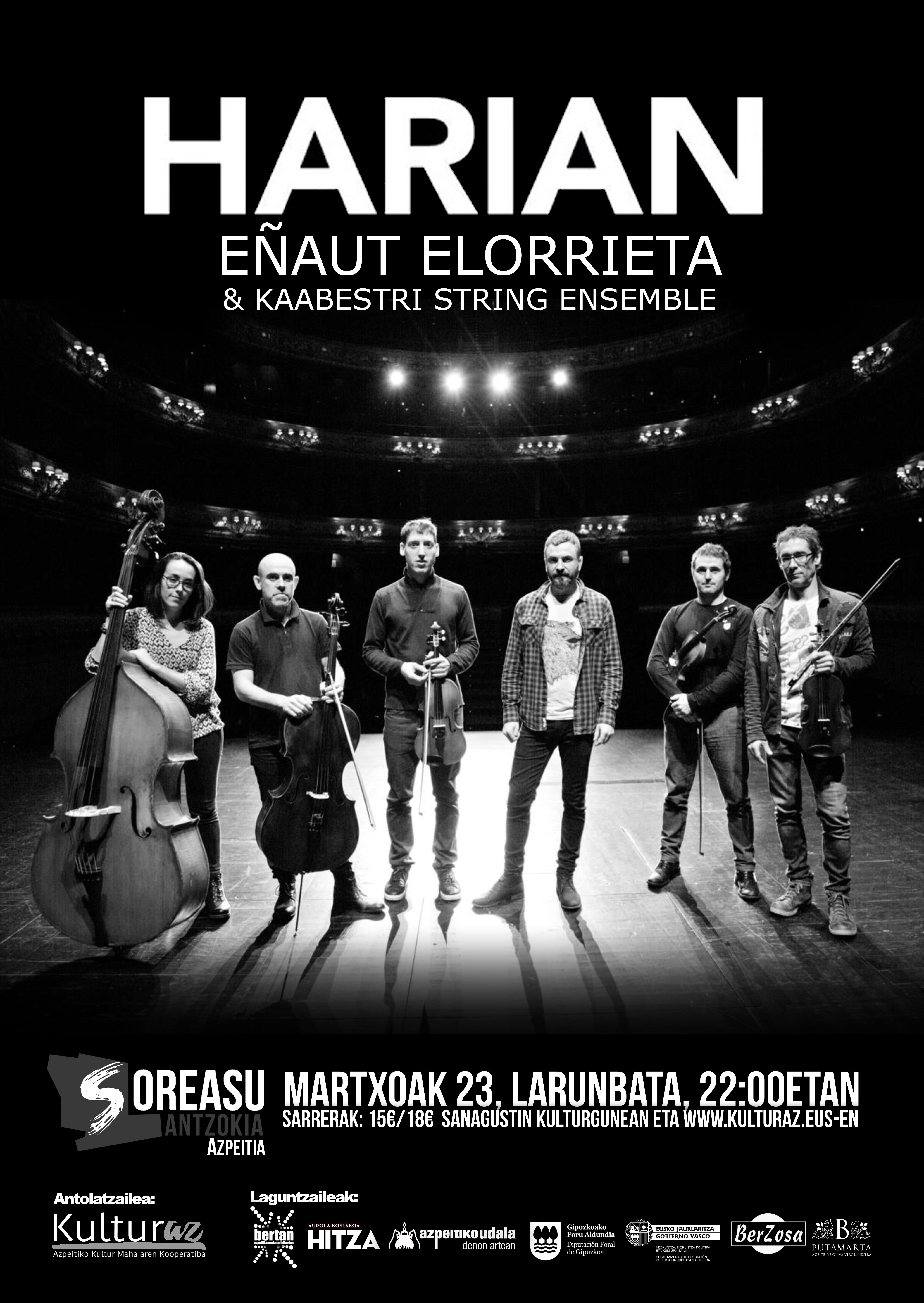 Harian: Eñaut Elorrieta & Kaabestri String Ensemble