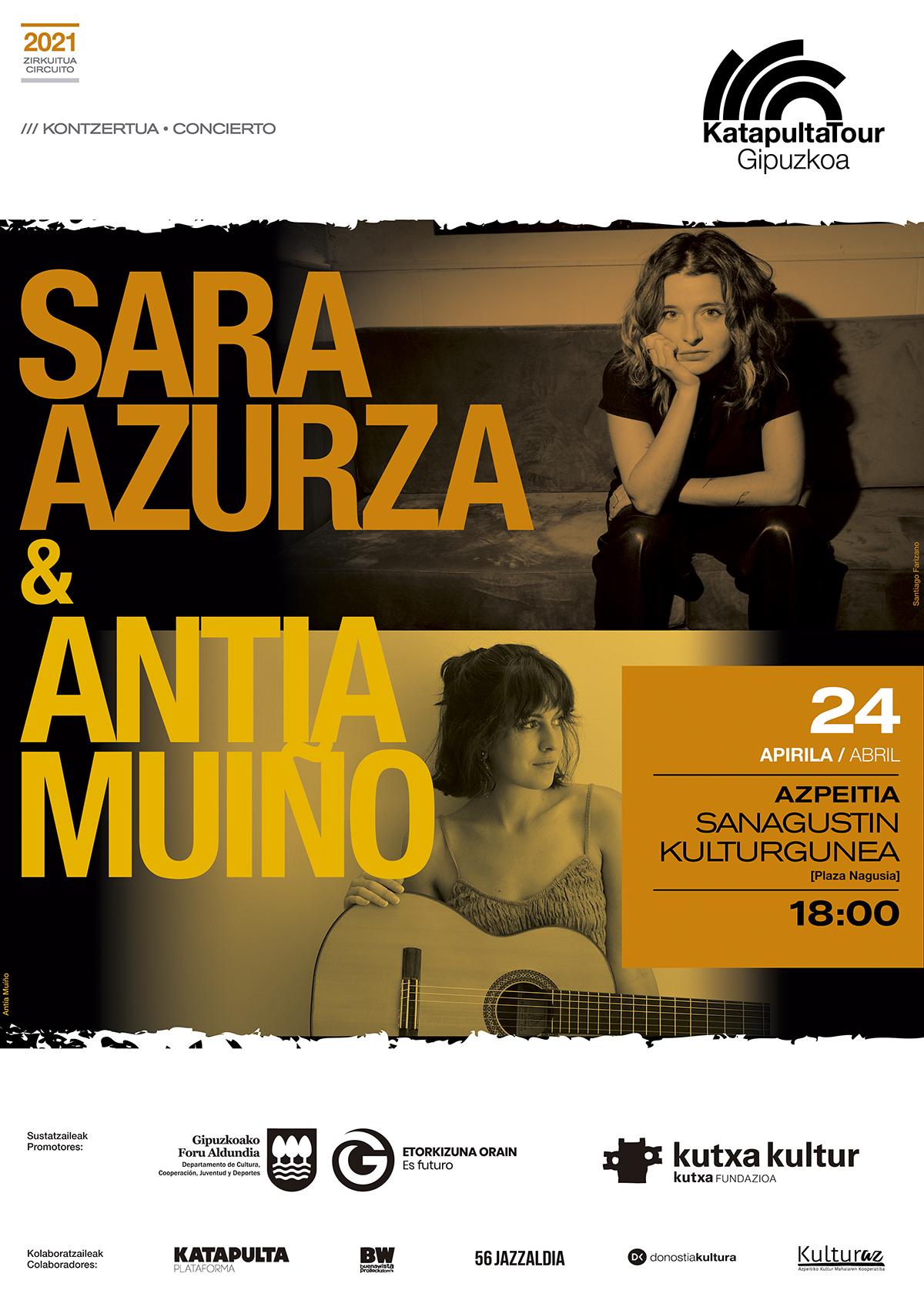 Kontzertua:  SARA AZURZA + ANTÍA MUÍÑO