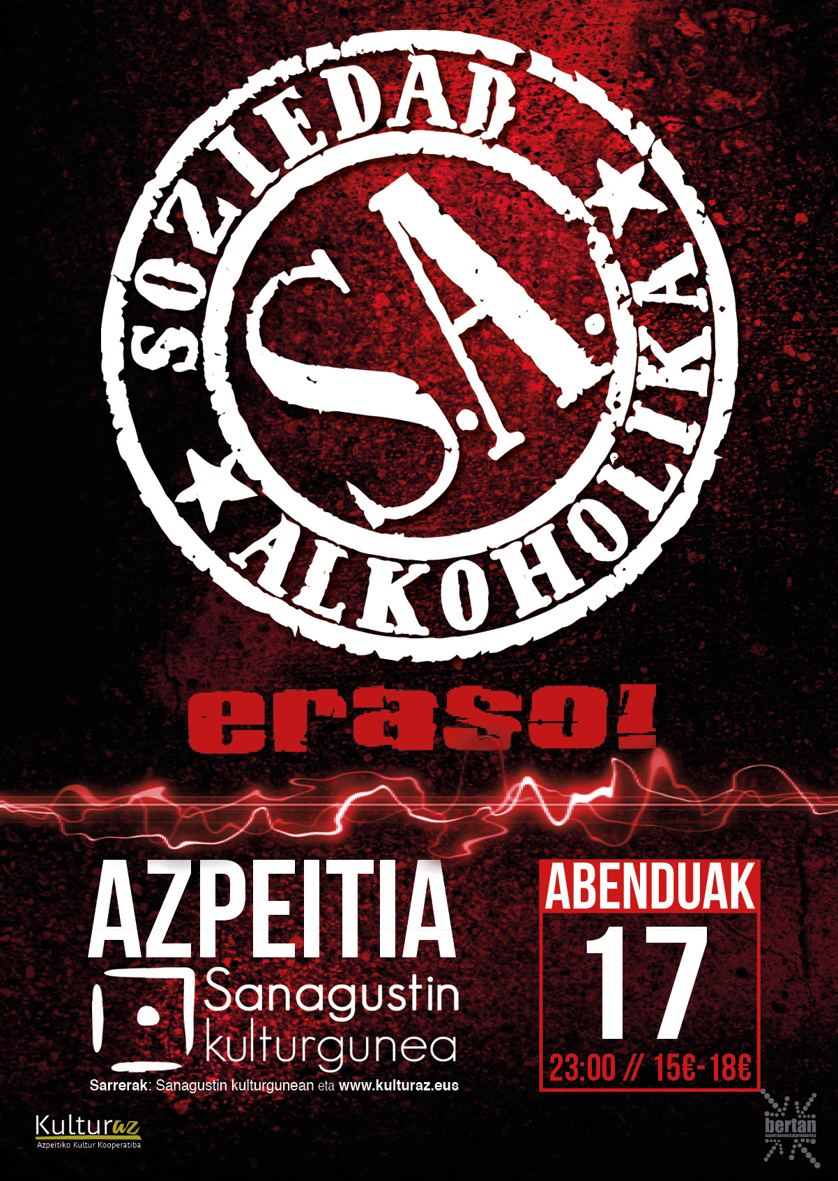 Soziedad Alkoholika + Eraso!