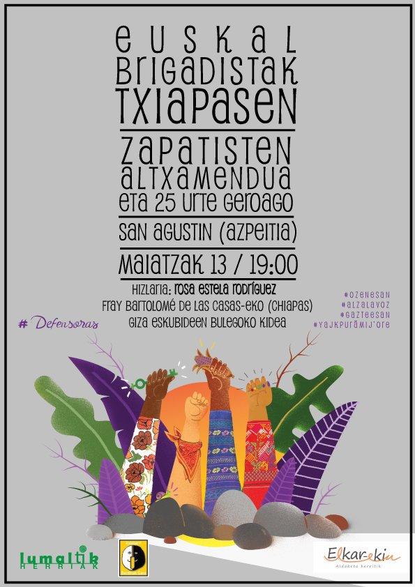 Hitzaldia: 'Zapatisten altxamendua 25 urte geroago'
