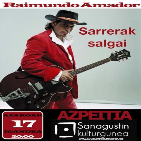 Raimundo Amador-en kontzerturako sarrerak salgai