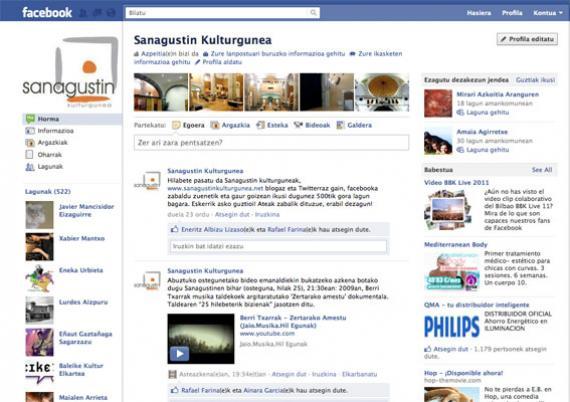 Facebooken 500 lagun izatera iritsi gara hilabetean