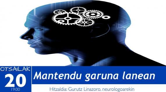 Gaur, neurologian aditua den Gurutz Linazasororen hiltzaldia izango dugu
