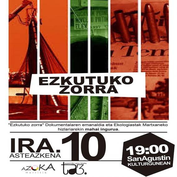 Gaur hasiko dira Azoka Herritik-en ekitaldiak: 'Ezkutuko zorra' dokumentala eta mahai-ingurua lehenengoa