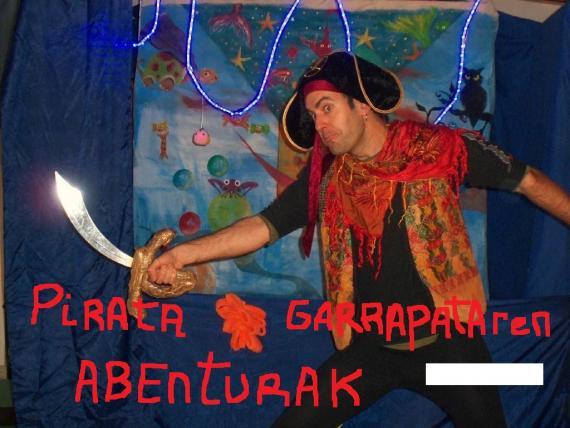 Pirata Garrapataren abenturak izango ditugu zapatuan