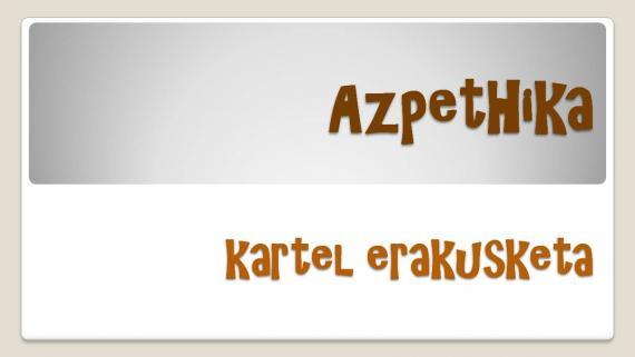 'AzpeitHika' gaztetxoen kartel erakusketa Sanagustinen
