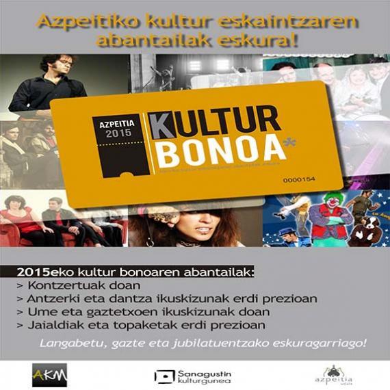 Kulturaz gozatzeko, 2015eko kultur bonoa eskuragarri