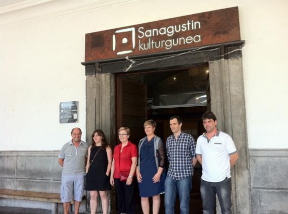 Kultura diputatua Sanagustinera etorri da, proiektua bertatik bertara ezagutzera