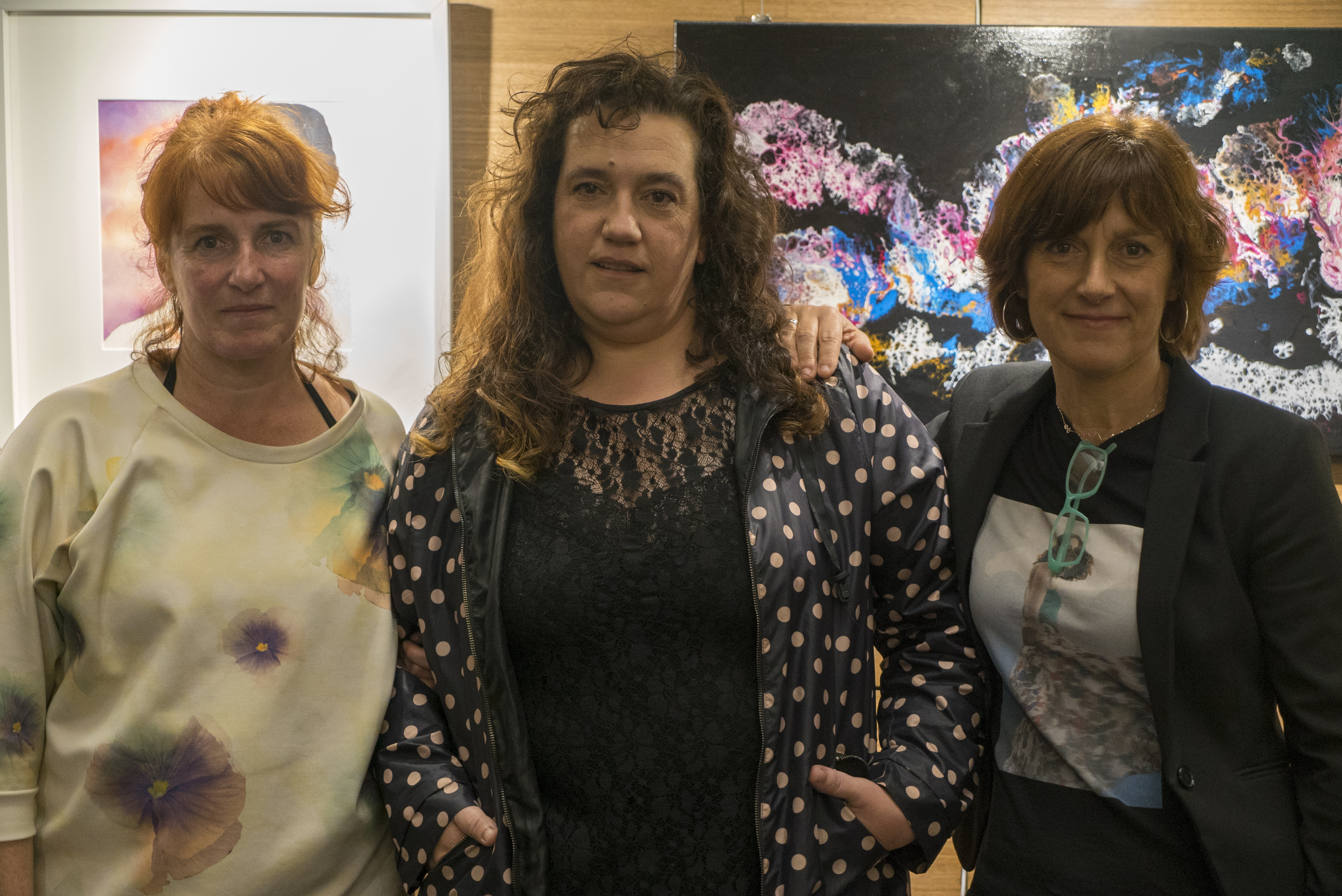 Eva Serna, Izaskun Bravo, Idoia Leonet eta Olatz Lasak egindako koadroak ikusgai Sanagustinen