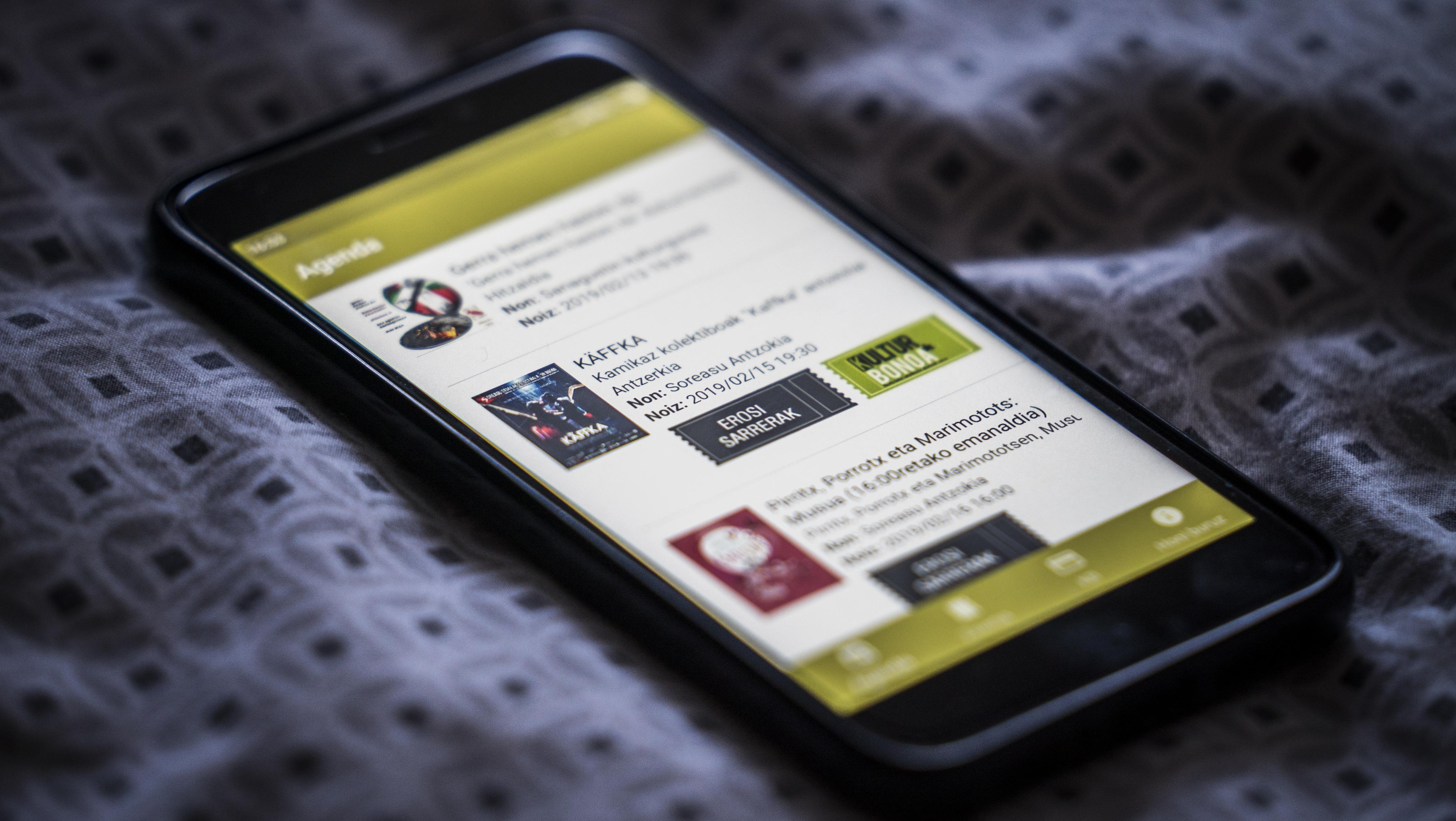 Kulturaz aplikazioa, informazio guztia eskura