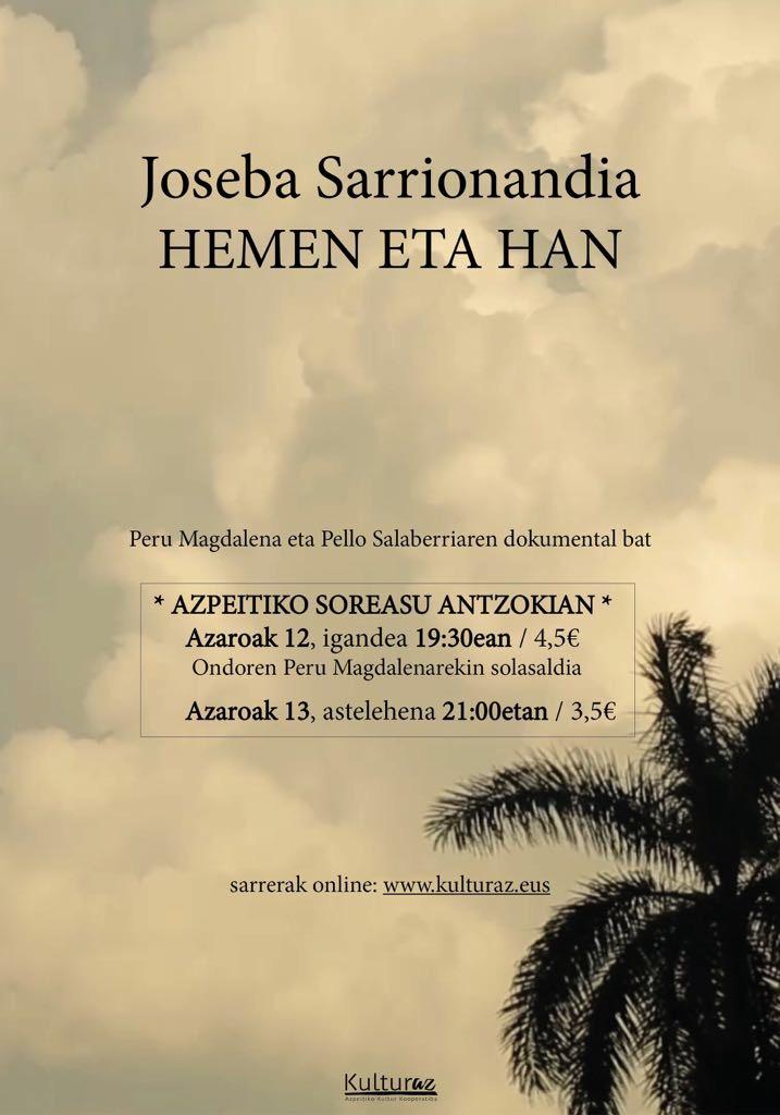 Joseba Sarrionandia, hemen eta han